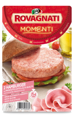 Hamburger with High Quality Cooked Ham